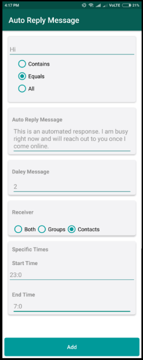 How to Set Auto Reply in GBWhatsApp | WhiteHatDevil