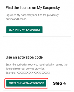 how do i use my kaspersky activation code